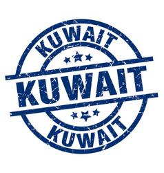 Kuwait blue round grunge stamp vector