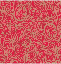 Seamless festive floral background vector image