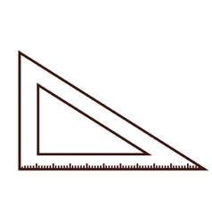 triangle ruler isolated vector image vector image