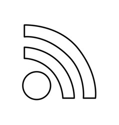 wifi connection router icon vector image