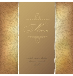 aged menu template vector image vector image