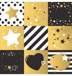 Cute different backgrounds set patterns vector image vector image