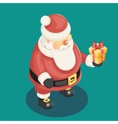 Cute Isometric 3d Christmas Santa Claus vector image vector image