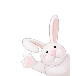 Funny rabbit vector image