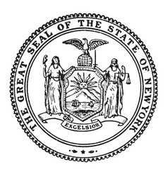 The great seal of the state of new york vintage vector