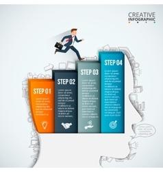 Businessman head thinking step vector