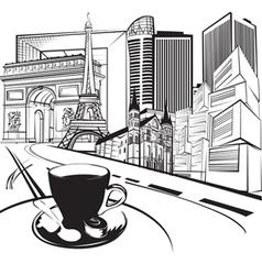 sketch trip to France vector image vector image