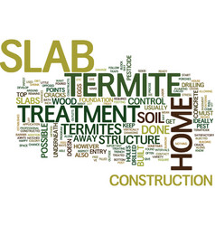 termite treatment slab text background word cloud vector image vector image