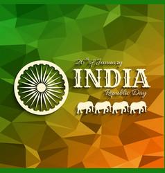 26th january india republic da vector