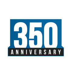 350th anniversary icon birthday logo vector