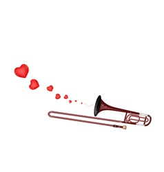 A Symphonic Trombone Blowing A Lovely Heart vector