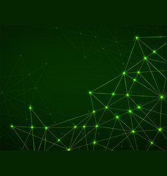 abstract geometric background with connecting dots vector image