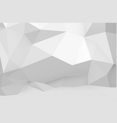 Abstract white polygonal pattern on the wall vector