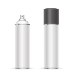 Aerosol spray metal bottle can deodorant vector