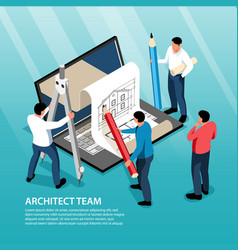 architect team isometric vector image
