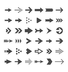 arrow button icons right arrowhead signs rewind vector image