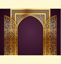 Background with golden arch vector
