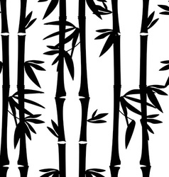 Black bamboo pattern vector