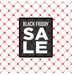 Black friday sale poster over seamless pattern vector