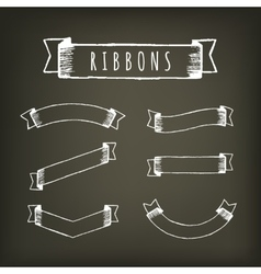 Black outline pencil ribbons vector image