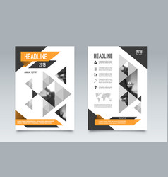 business brochure flyer layout template a4 size vector image