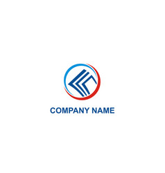 business finance paper company logo vector image