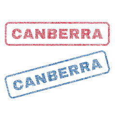 Canberra textile stamps vector