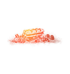 Candy shop confectionery assortment vector