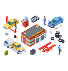 car service isometric concept venicle vector image