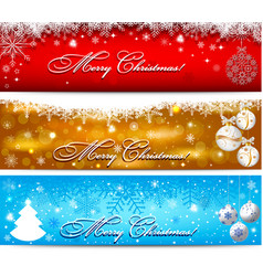 Christmas banner with snowflakes set vector