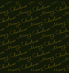 christmas seamless pattern lettering color vector image