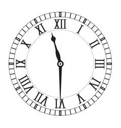 Clockface with roman numerals vector