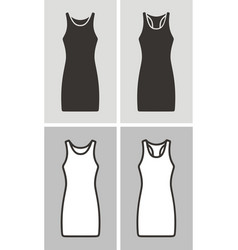 dress set vector image