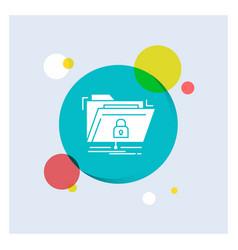 encryption files folder network secure white vector image