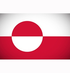 flag greenland vector image