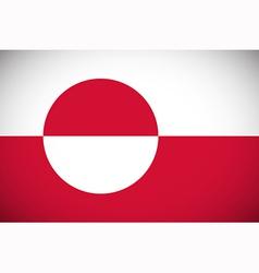 flag greenland vector image