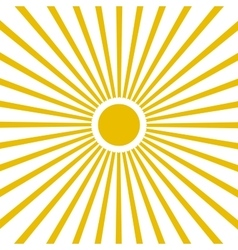 Flat Yellow sun vector image