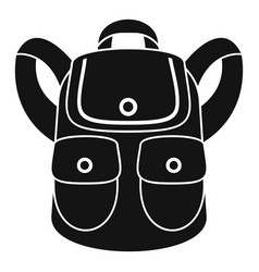 forest backpack icon simple style vector image