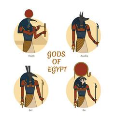 Gods and symbols ancient vector