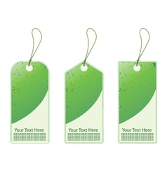 Green shopping tags vector