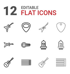 Guitar icons vector