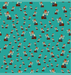 happy boy child seamless pattern young male vector image