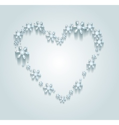 Heart of the Snowflakes vector image