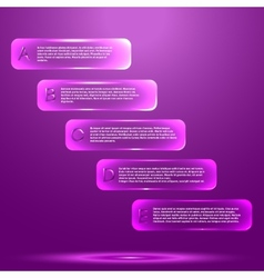 Infographic with glass objects vector image