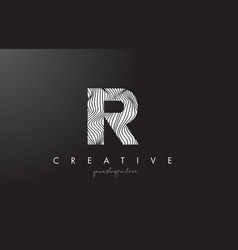 Ir i r letter logo with zebra lines texture vector