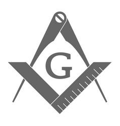 Masonic square and compasses vector