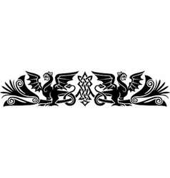 Medieval Celtic pattern vector