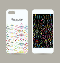Mobile phone cover design abstract geometric vector