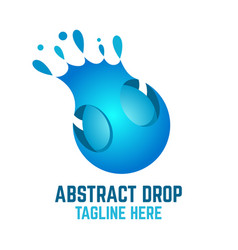 modern abstract drop logo vector image