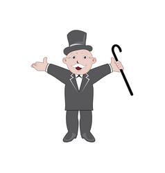 Monopoly man character vector